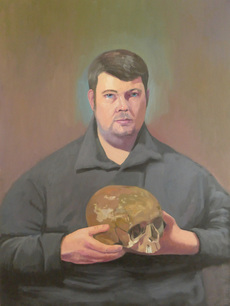 Stephen with a skull