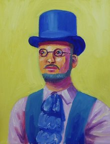 Man in a blue hat