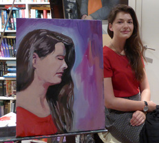 Picture of Rebecca and Painting